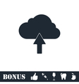 Upload cloud icon flat vector image vector image