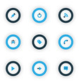 user icons colored set with label edit call and vector image