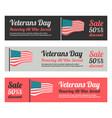 veterans day web banner set vector image vector image