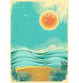 vintage nature tropical seascape background vector image vector image