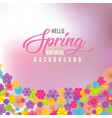 water color nature background with spring flowers vector image