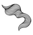 wave hair line curl vector image vector image