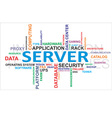 word cloud server vector image vector image
