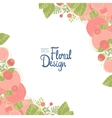 Floral corner and place for text vector image