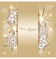 Sparkling Golden Christmas Background vector image