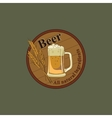 Colored Beer emblem vector image