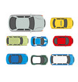 cars transport or automobile vehicles flat vector image