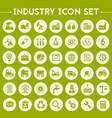 big industry icon set vector image