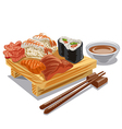 japan sea food vector image