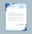 abstract shapes letterhead design vector image vector image