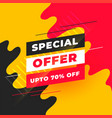 abstract special offer sale banner design template vector image