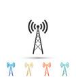 antenna icon isolated radio antenna wireless vector image vector image