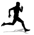 Athlete on running race silhouettes vector image vector image