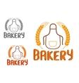 Bakery shop signboard or emblem design vector image vector image