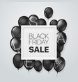 black friday sale concept banner with white frame vector image vector image