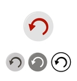 Button Undo icons vector image