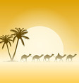 Camels and Palms vector image vector image