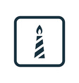 candle icon Rounded squares button vector image vector image