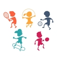 cartoon sport icons vector image