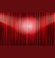 close view of realistic red curtain vector image vector image