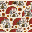 colorful oriental vintage seamless pattern vector image