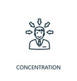 concentration outline icon thin line concept vector image vector image
