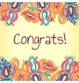 Congrats card Abstract colorful vector image vector image