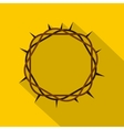 Crown of thorns icon flat style vector image vector image