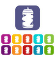 crumpled aluminum cans icons set vector image vector image
