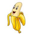 cute banana cartoon mascot logo vector image vector image