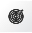 darts icon symbol premium quality isolated aim vector image