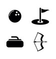 different active sports simple related icons vector image vector image