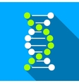 DNA Spiral Flat Long Shadow Square Icon vector image vector image