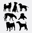 Dog pet animal symbol silhouette vector image