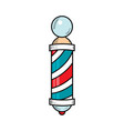 drawing of barber pole sign used by barbershops vector image vector image