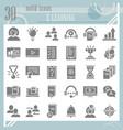 e-learning glyph icon set education symbols vector image