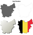 East Flanders outline map set - Belgian version vector image vector image