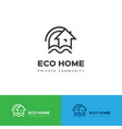 eco home logo eco house icon concept vector image