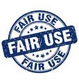 fair use blue grunge stamp vector image