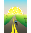 fantastic landscape road to horizon family vector image vector image