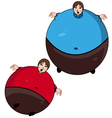 fat kid vector image