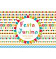 festa junina patterned set of brushes bunting vector image vector image