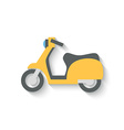 Flat Design Scooter Isolated on white Background vector image vector image