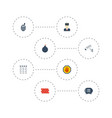 flat icons safe forbidden camera and other vector image vector image