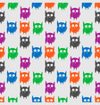 flat seamless pattern with colorful funny owls vector image vector image