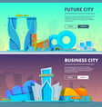 futuristic buildings of vector image vector image