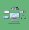 gadgets technology device design pc camera film vector image vector image