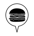 hamburger pictogram icon image vector image vector image