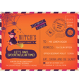 Happy Halloween Vintage Postcard invitation vector image