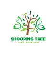 happy shopping logo designs vector image